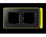 Ramka 2- krotna grafit jasny żółty 8201620-262