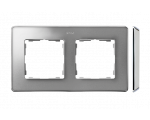 Ramka 2- krotna aluminium zimne chrom 8201620-093