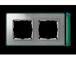 Ramka 2- krotna aluminium zimne zielony 8201620-253
