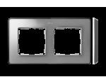Ramka 2- krotna aluminium zimne grafit 8201620-293