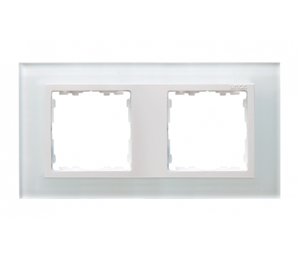 Ramka 2- krotna szklana biały / biała 82627-30
