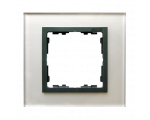 Ramka 1-krotna szklana szara / grafit 82817-35