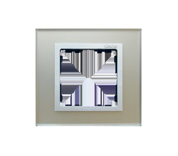 Ramka 1-krotna szklana srebro / aluminium 82917-62