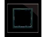 Ramka 1-krotna szklana czarna / grafit 82817-32