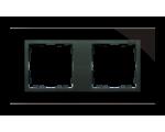 Ramka 2- krotna szklana czarna / grafit 82827-32