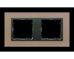 Ramka 2- krotna szklana miedź / grafit 82827-34