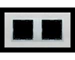 Ramka 2- krotna metalowa inox mat / aluminium 82927-34