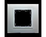 Ramka 1- krotna aluminium / aluminium mat 82917-33