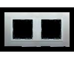 Ramka 2- krotna aluminium / aluminium mat 82927-33
