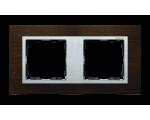 Ramka 2- krotna wenge / aluminium mat 82927-65
