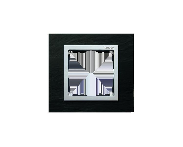 Ramka 1- krotna łupek / aluminium 82917-63
