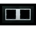 Ramka 2- krotna łupek / aluminium 82927-63