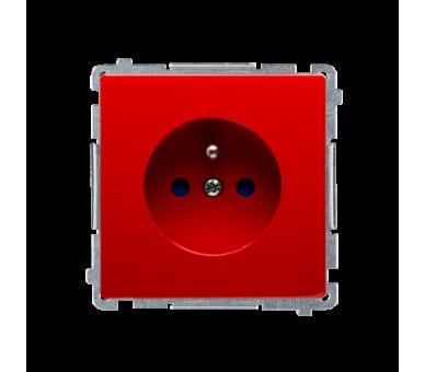 Gniazdo wtyczkowe pojedyncze z uziemieniem z przesłonami torów prądowych czerwony 16A BMGZ1Z.01/22