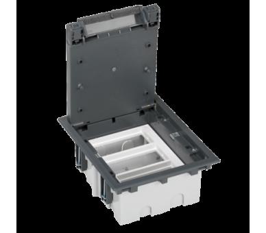 Puszka podłogowa SF prostokątna 6×K45 3×S500 93mm÷128mm szary 52050103-035