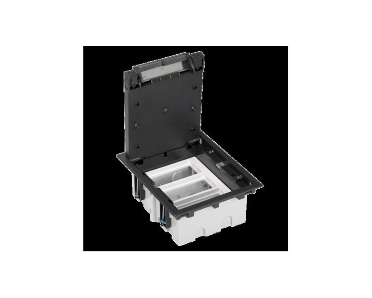 Puszka podłogowa SF prostokątna 6×K45 3×S500 93mm÷128mm szary grafit 52050103-038