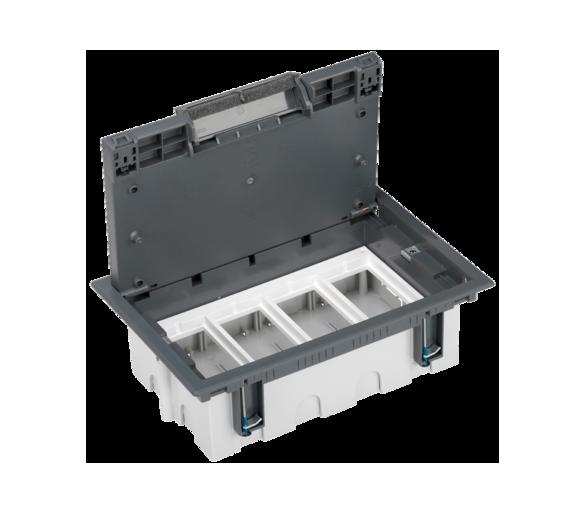 Puszka podłogowa SF prostokątna 8×K45 4×S500 93mm÷128mm szary 52050104-035