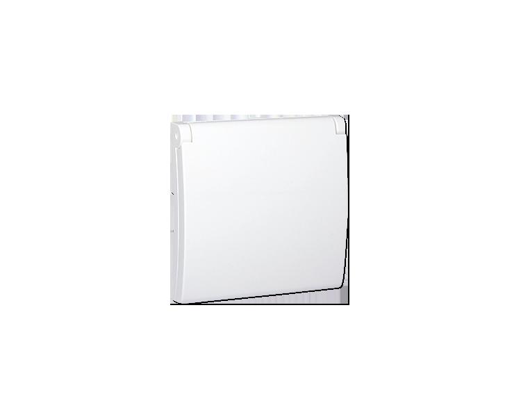 Pokrywa do gniazda wtyczkowego z uziemieniem - do wersji IP44- klapka w kolorze pokrywy biały MGZ1BP/11