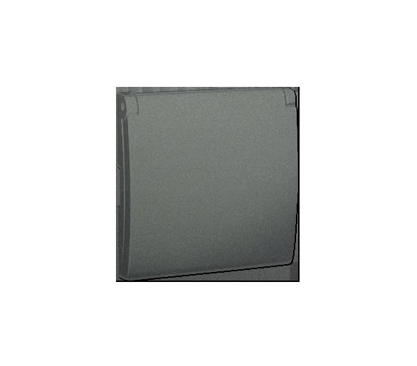 Pokrywa do gniazda wtyczkowego z uziemieniem - do wersji IP44- klapka w kolorze pokrywy grafitowy, metalizowany MGZ1BP/25