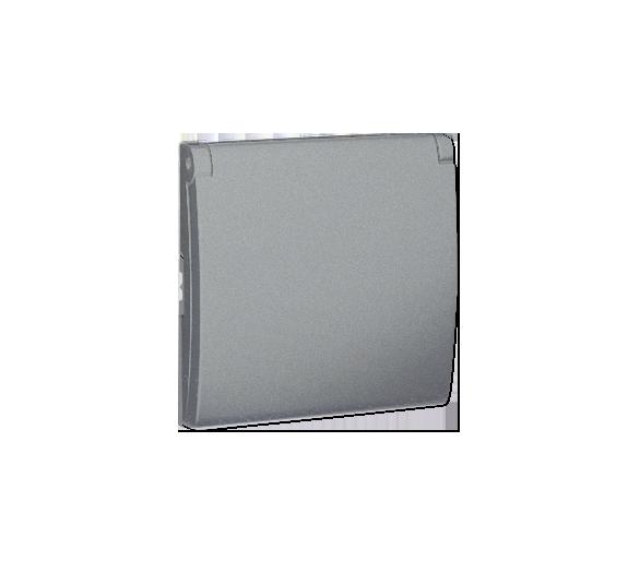 Pokrywa do gniazda wtyczkowego z uziemieniem - do wersji IP44- klapka w kolorze pokrywy aluminiowy, metalizowany MGZ1BP/26