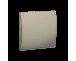 Pokrywa do gniazda wtyczkowego z uziemieniem - do wersji IP44- klapka w kolorze pokrywy platynowy, metalizowany MGZ1BP/27