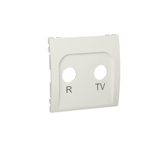 Pokrywa do gniazda antenowego R-TV końcowego i przelotowego ecru MAP/10