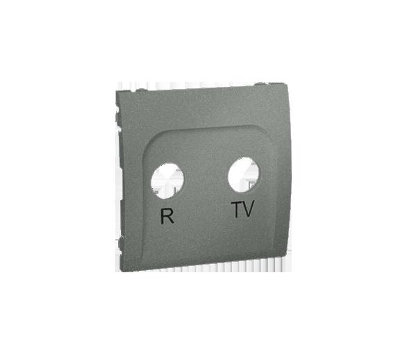 Pokrywa do gniazda antenowego R-TV końcowego i przelotowego grafitowy, metalizowany MAP/25