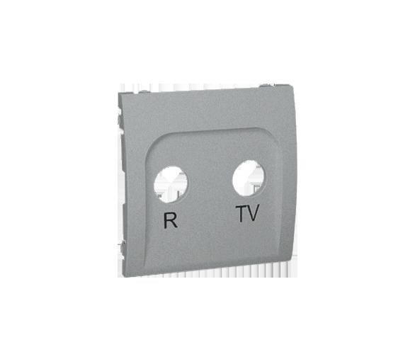 Pokrywa do gniazda antenowego R-TV końcowego i przelotowego aluminiowy, metalizowany MAP/26