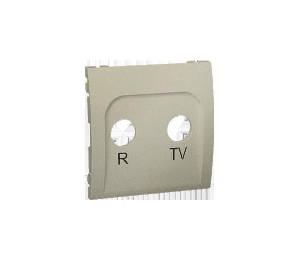 Pokrywa do gniazda antenowego R-TV końcowego i przelotowego platynowy, metalizowany MAP/27