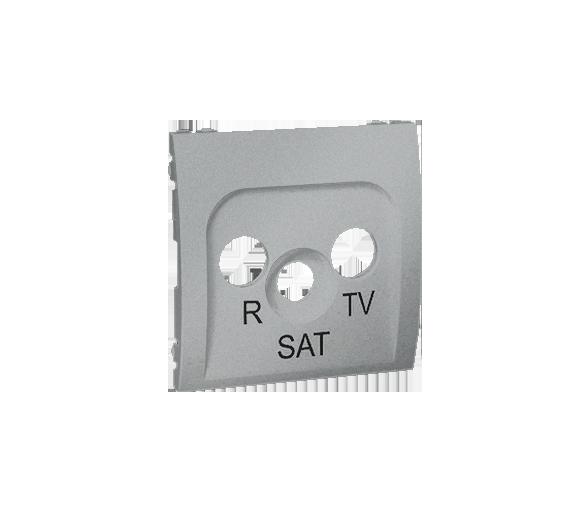 Pokrywa do gniazda antenowego R-TV-SAT aluminiowy, metalizowany MASP/26