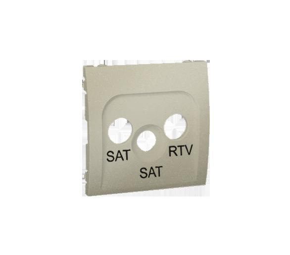 Pokrywa do gniazda antenowego SAT-SAT-RTV platynowy, metalizowany MAS2P/27