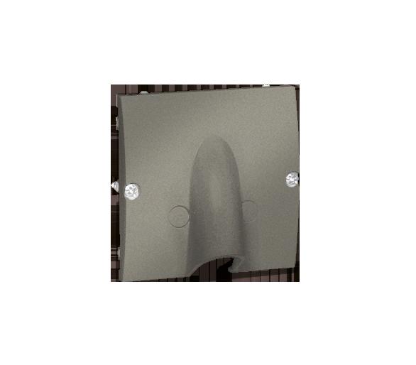 Wyjście kablowe platynowy, metalizowany MPK1.02/27