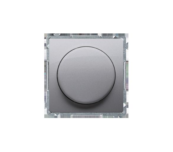 Ściemniacz do LED ściemnialnych, naciskowo-obrotowy, jednobiegunowy srebrny mat, metalizowany W układzie schodowym:Tak BMS9L.01/