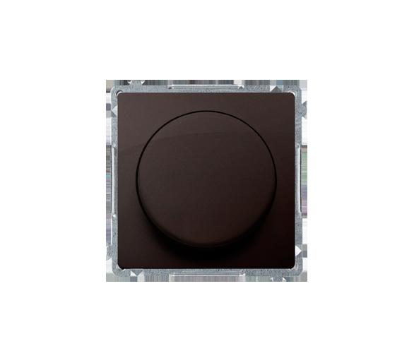 Ściemniacz do LED ściemnialnych, naciskowo-obrotowy, jednobiegunowy czekoladowy mat, metalizowany W układzie schodowym:Tak BMS9L