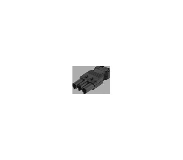 Wtyczka męska GESIS® złącze 3-polowe 16A 250V szary grafit CR0004/14