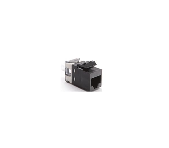 Wkład gniazda komputerowego RJ45 kat.6, nieekranowany (UTP) czarny ARJ456