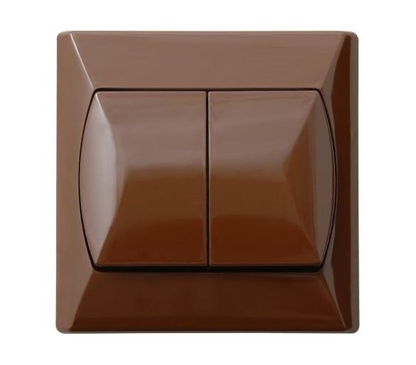 Łącznik dwugrupowy świecznikowy brązowy Akcent ŁP-2A/24