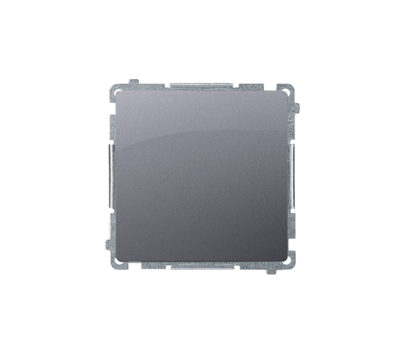 Przycisk pojedynczy zwierny bez piktogramu (moduł) 10AX 250V, szybkozłącza, srebrny mat, metalizowany BMP1.01/43