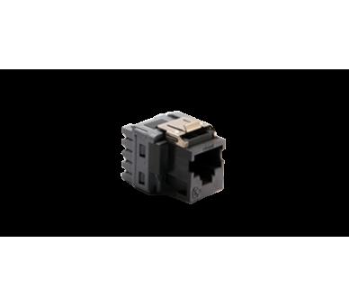 Wkład gniazda komputerowego RJ45 kat.5e, nieekranowany (UTP) czarny KRJ455E