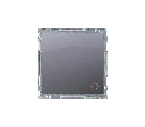 """Przycisk """"światło"""" (moduł) 10AX 250V, szybkozłącza, srebrny mat, metalizowany BMS1.01/43"""