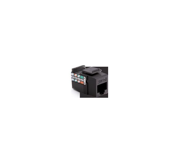 Wkład gniazda komputerowego RJ45 kat.5e, nieekranowany (UTP) czarny