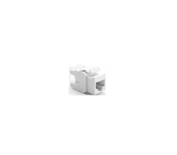 Wkład gniazda komputerowego RJ45 kat.5e, nieekranowany (UTP) biały MRJ455E MRJ455E