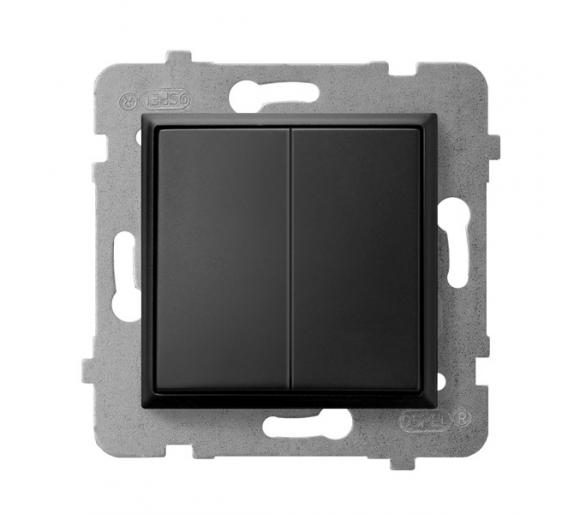 Łącznik dwugrupowy świecznikowy czarny metalik Aria ŁP-2U/m/33
