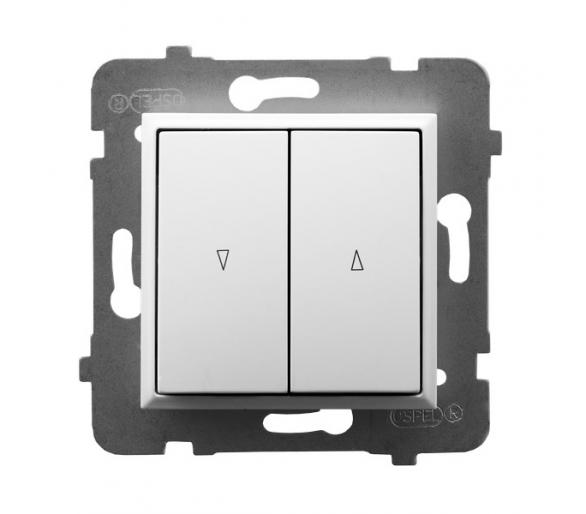 Łącznik żaluzjowy, zwierny biały Aria ŁP-7U/m/00