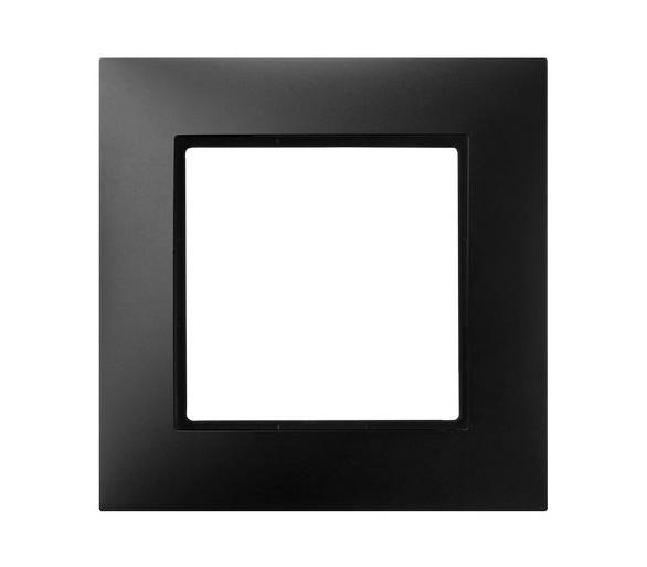 Ramka pojedyncza czarny metalik Aria R-1U/33
