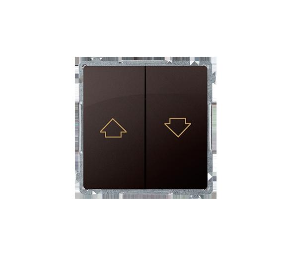 Łącznik żaluzjowy pojedynczy (moduł) 10A 250V, zaciski śrubowe, czekoladowy mat, metalizowany BMWZ1.01/47