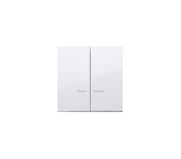 Klawisz podwójny do łączników i przycisków podświetlanych biały DKW5L/11