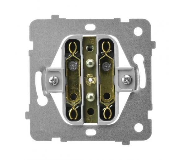 Mechanizm gniazda podwójnego do ramki z uziemieniem biały Aria (elementy) M1GP-2URZ/G