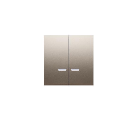 Klawisz podwójny do łączników i przycisków podświetlanych złoty mat, metalizowany DKW5L/44