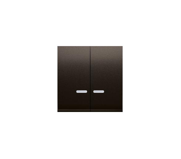 Klawisz podwójny do łączników i przycisków podświetlanych brąz mat, metalizowany DKW5L/46