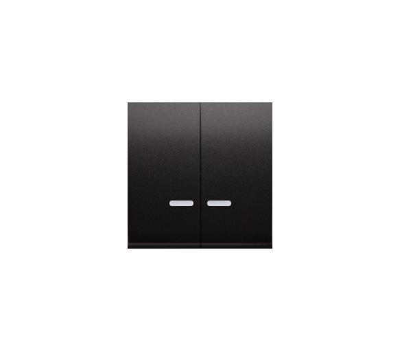 Klawisz podwójny do łączników i przycisków podświetlanych antracyt, metalizowany DKW5L/48